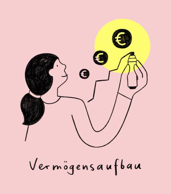 Geldfrau Illustration