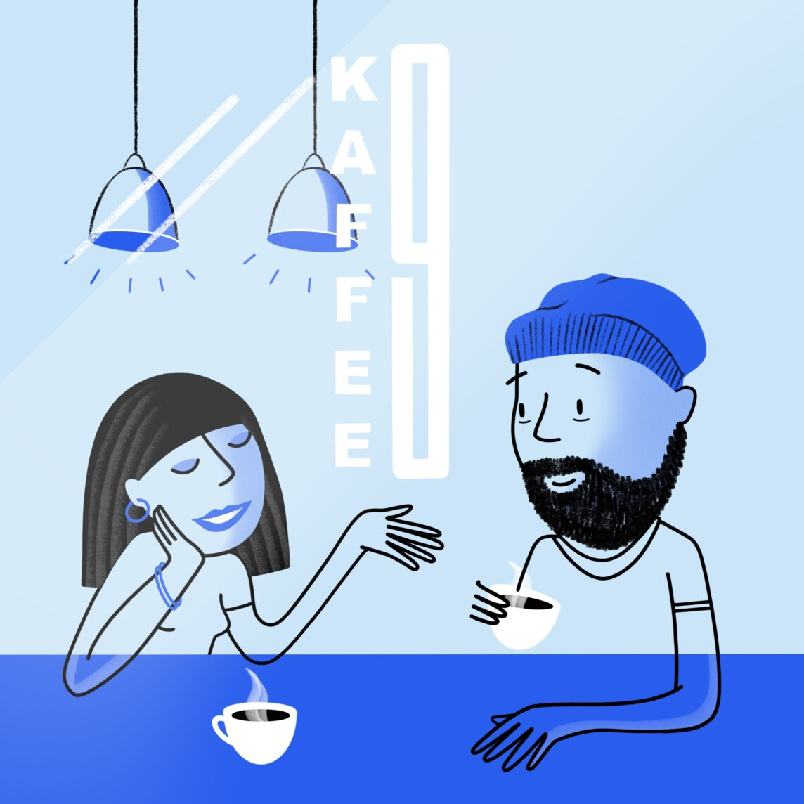 Illustration Kaffee 9 Cafe Berlin