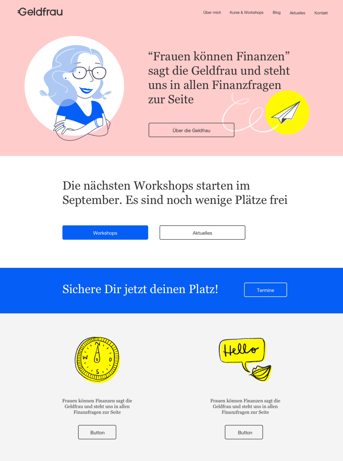 Website Geldfrau Look & Feel