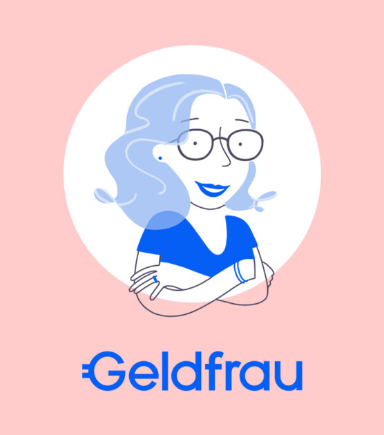 Geldfrau Character Illustration