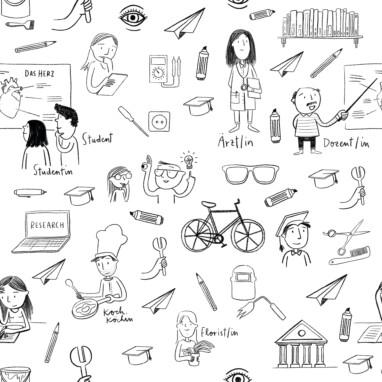 Illustration Wallpaper Pattern Schule