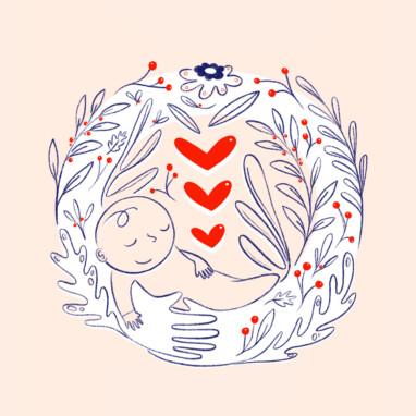 Illustration Geburtskarte
