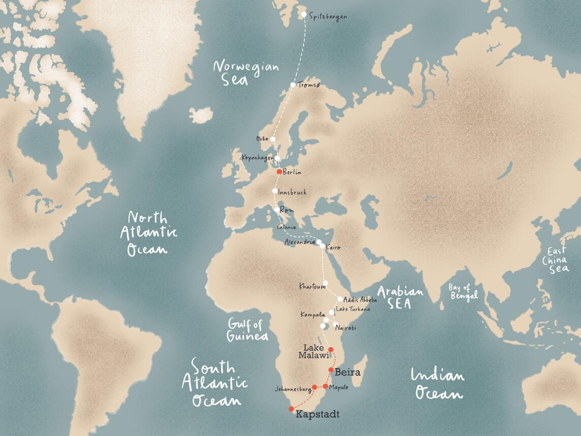 Illustration Karte Map Weltkarte