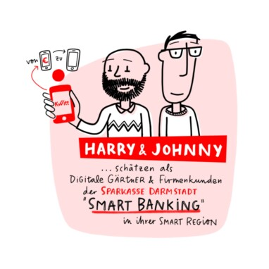 Sketchnote Illustration Sparkasse